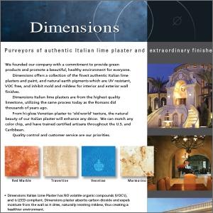Dimensions Plaster Flyer