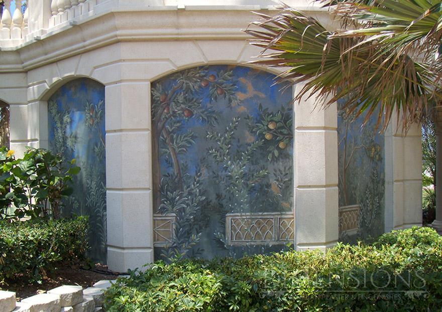 Italian lime plaster fresco