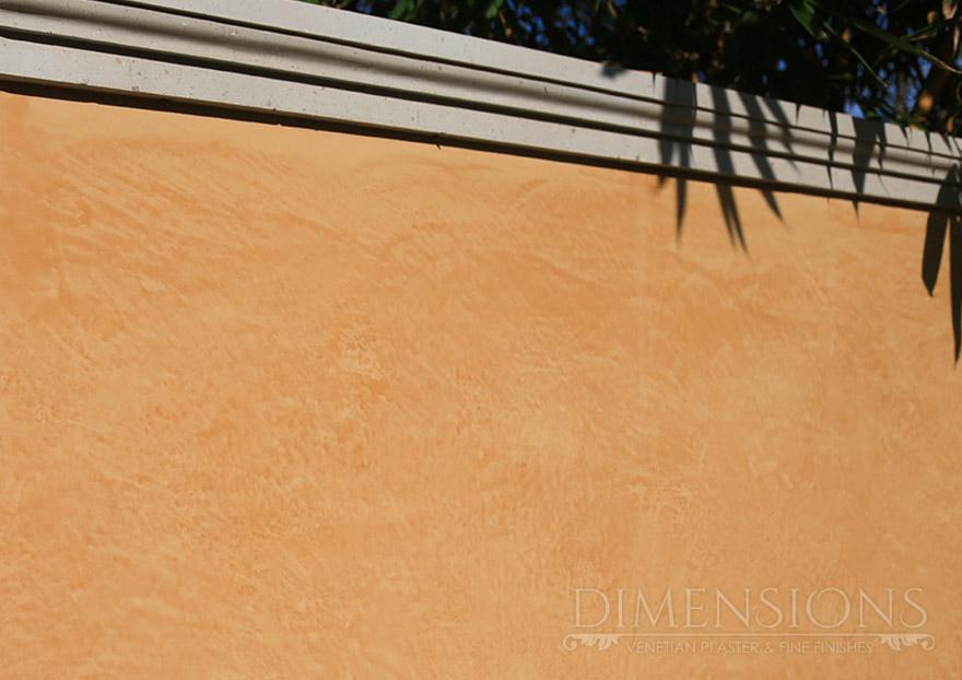 Exterior Italian lime plaster