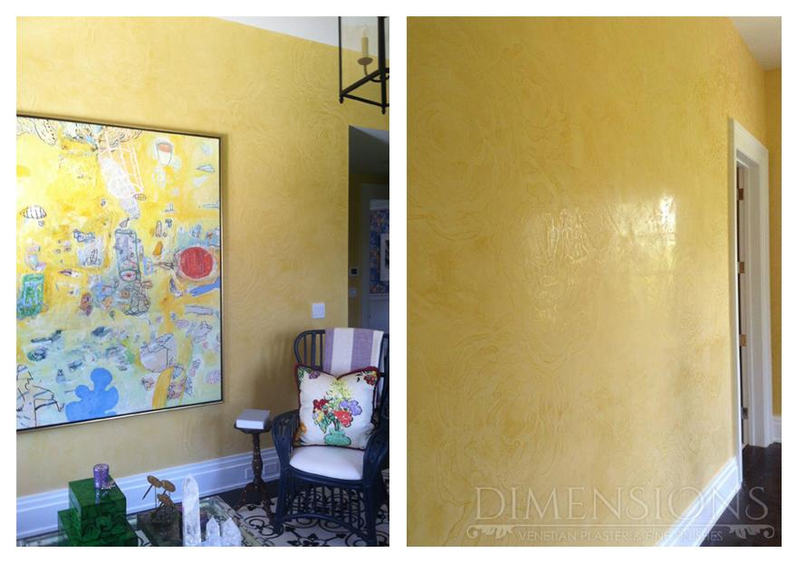 Venetian Plaster with Stencil
