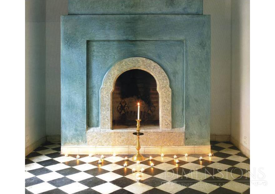 Tadelakt fireplace