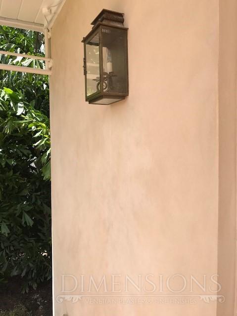 exterior, lime paint
