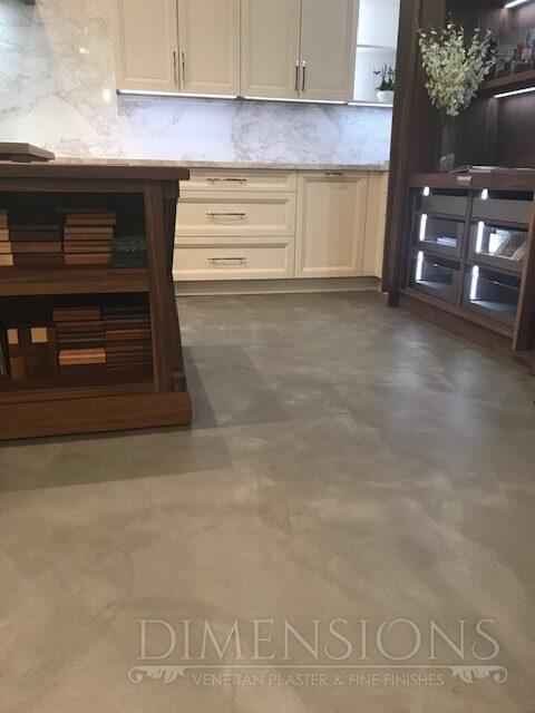 Marmorino floor